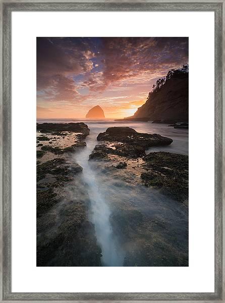 Cape Kiwanda Sunset Framed Print