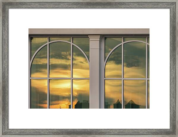 Cape May Abstract Sunset Reflection Framed Print