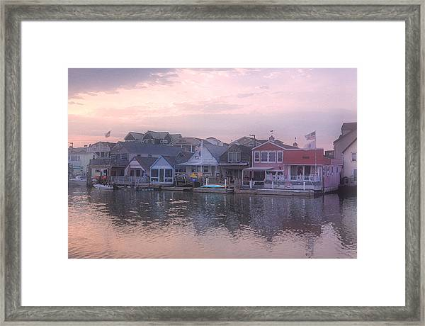 Cape May Harbor Framed Print
