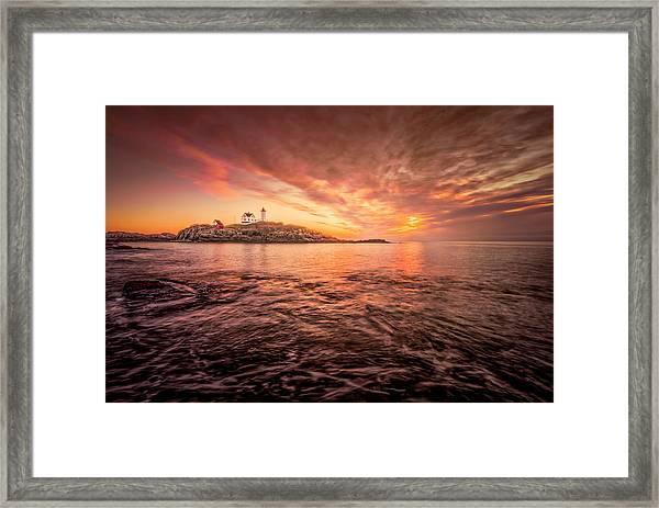 Cape Neddick Light - At Dawn Framed Print