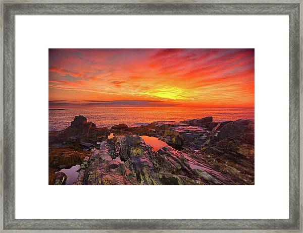 Cape Neddick Sunrise Framed Print
