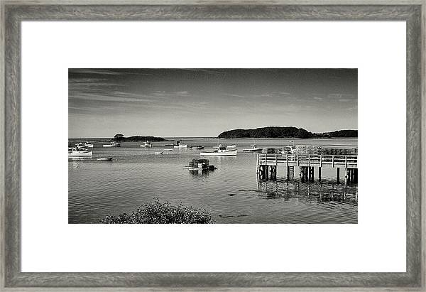 Cape Porpoise Harbor Framed Print