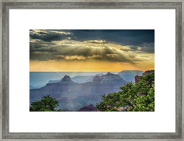 Cape Royal Crepuscular Rays Framed Print