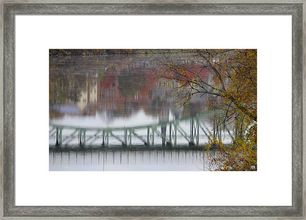 Capital Reflection Framed Print