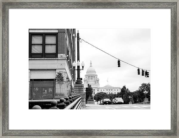 Capital View Framed Print