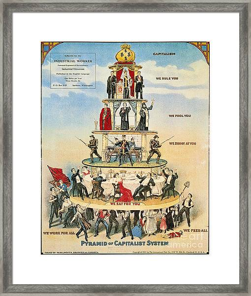 Capitalist Pyramid, 1911 - To License For Professional Use Visit Granger.com Framed Print