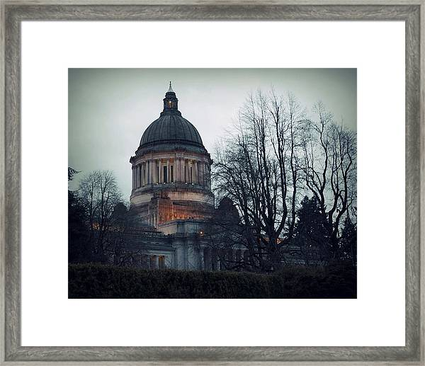 Capitol Aglow Framed Print