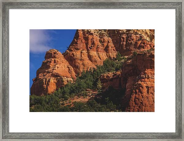 Capitol Butte Details Framed Print