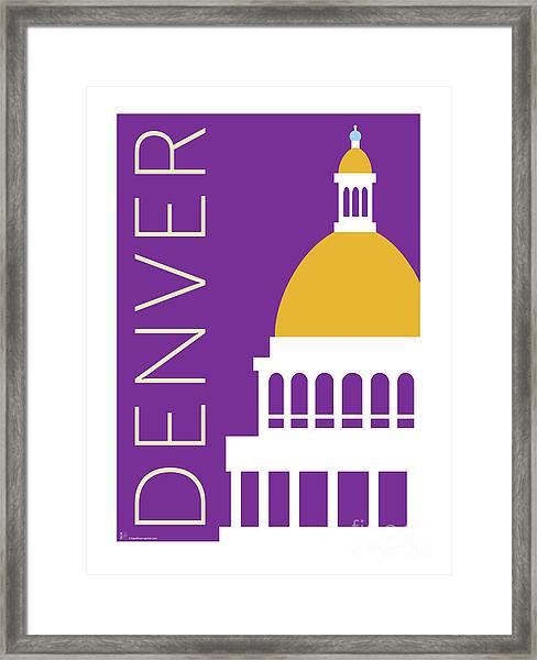 Denver Capitol/purple Framed Print