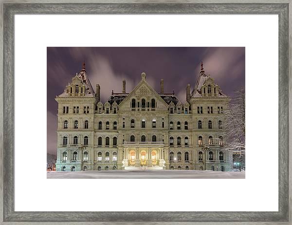 Capitol Snow Framed Print