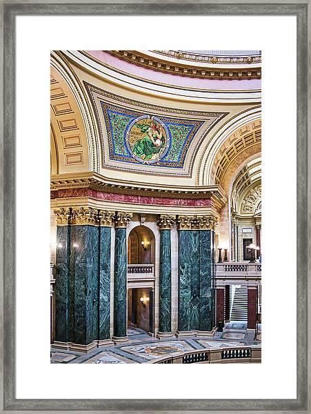 Capitol Rotunda -madison - Wisconsin Framed Print