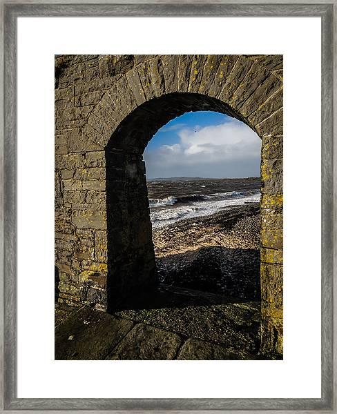 Cappagh Pier And Ireland's Shannon Estuary Framed Print