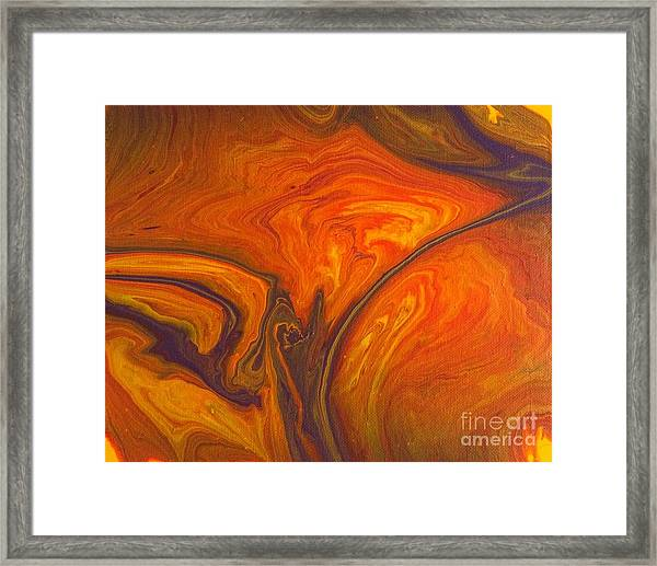Capriccio Arancione Framed Print