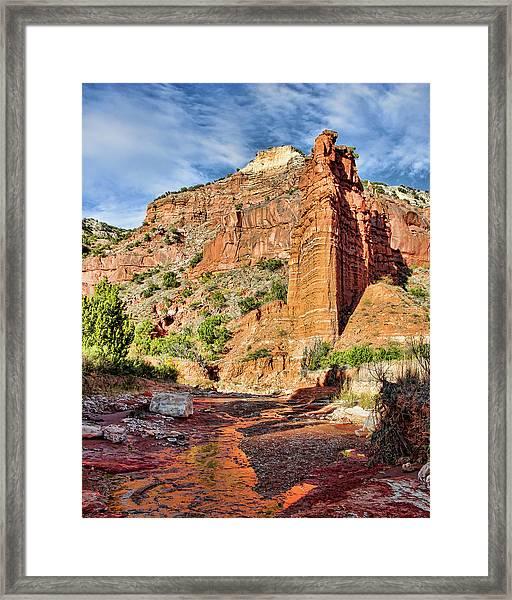 Caprock Canyon Cliff Framed Print