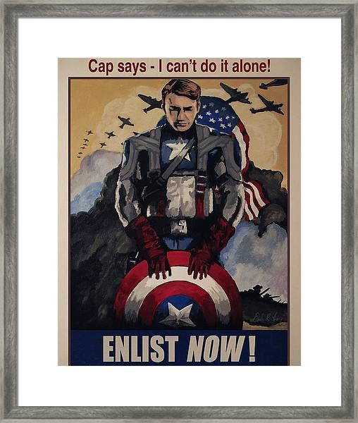 Captain America Recruiting Poster Framed Print