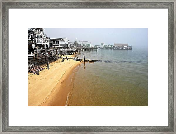 Captain Jacks Wharf Provincetown Ma Framed Print
