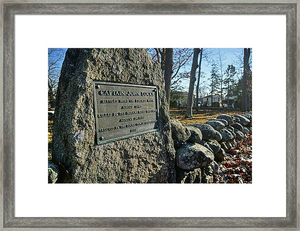 Captain John Locke Monument  Framed Print