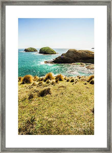 Captivating Coastal Cliff Framed Print