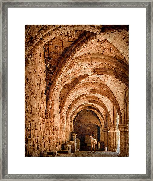 Framed Print featuring the photograph Rhodes, Greece - Capturing The Detail by Mark Forte
