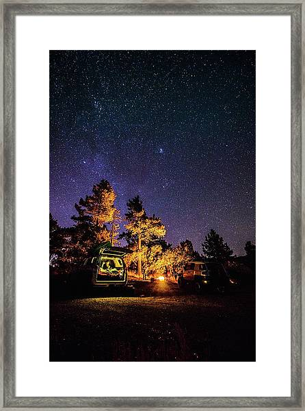 Car Camping Framed Print