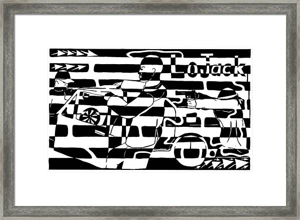 Car-jacking Maze For Lojack Advert Framed Print by Yonatan Frimer Maze Artist