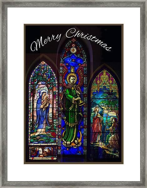 Card Merry Christmas Framed Print