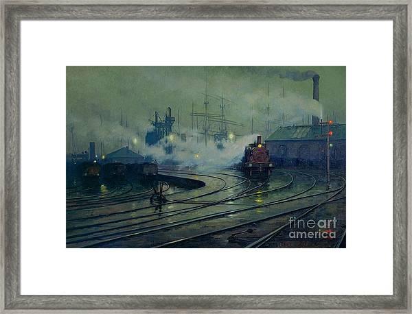 Cardiff Docks Framed Print
