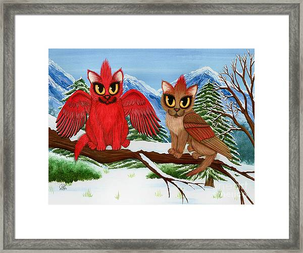 Cardinal Cats Framed Print