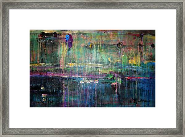 Framed Print featuring the painting Care by Laurie Maves ART