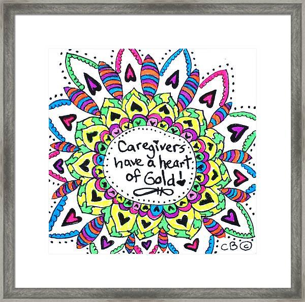 Caregiver Flower Framed Print