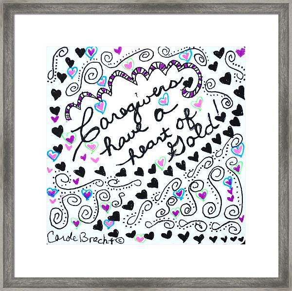 Caregiver Hearts Framed Print