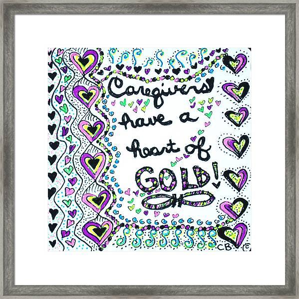 Caregiver Joy Framed Print