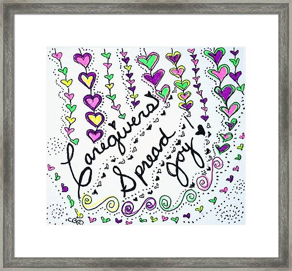 Caregivers Spread Joy Framed Print