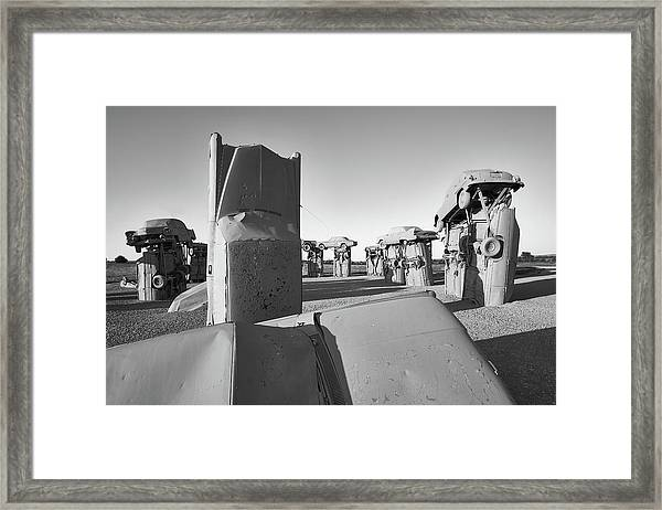 Carhenge 4 Framed Print by Jim Hughes