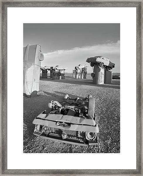Carhenge 6 Framed Print by Jim Hughes