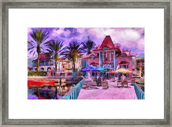 Caribbean Beach Resort Framed Print