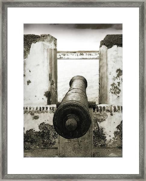 Caribbean Cannon Framed Print