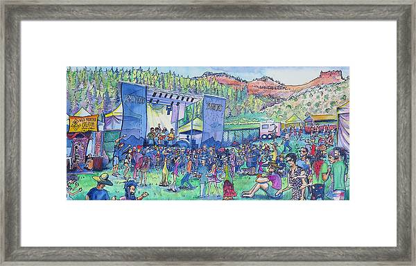 Caribou Mountain Collective At Yarmonygrass Framed Print