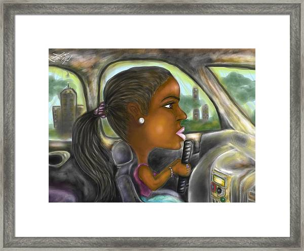 Caricature Ride With Jay Framed Print