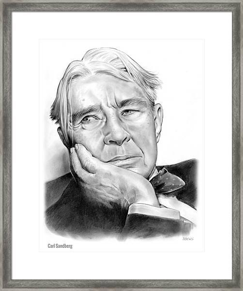 Carl Sandberg Framed Print