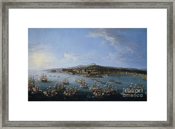 Carlos IIi Leaving The Port Of Naples Framed Print