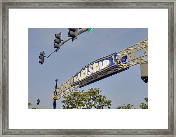 Carlsbad In Bold Framed Print