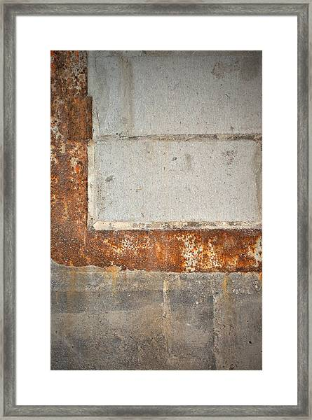 Carlton 14 - Abstract Concrete Wall Framed Print