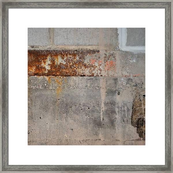 Carlton 16 Concrete Mortar And Rust Framed Print