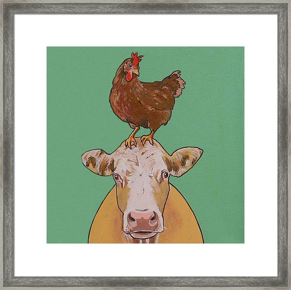 Carlyle The Cow Framed Print