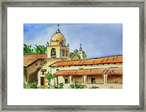 Carmel By The Sea - California Sketchbook Project  Framed Print