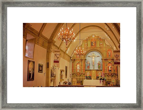 Carmel Mission, Mission San Carlos Borromeo Framed Print