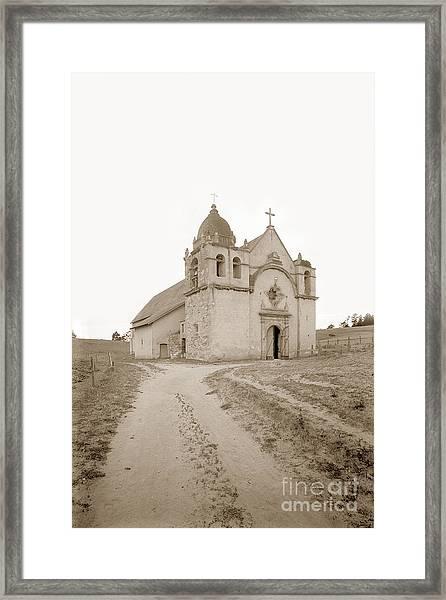 Carmel Mission South Side Circa 1915 Framed Print