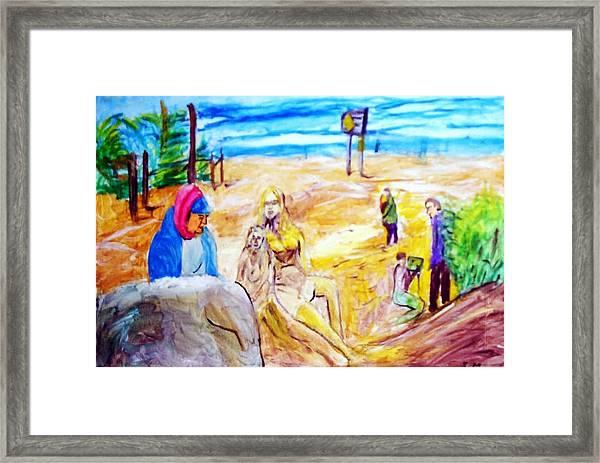 Carmel Sand Art Framed Print