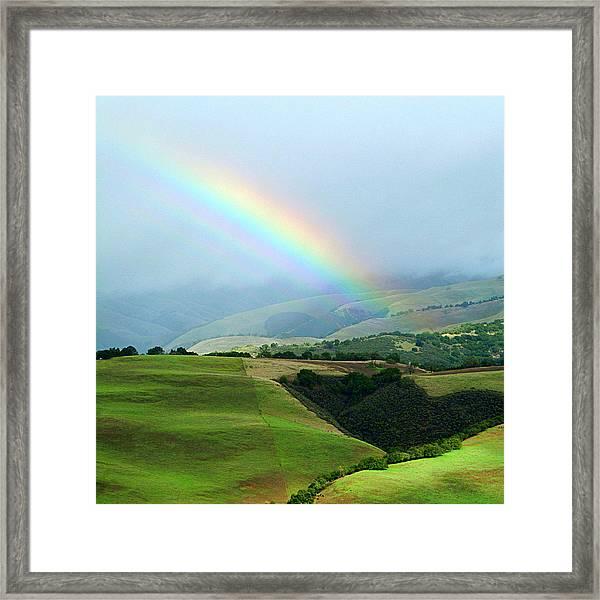Carmel Valley Rainbow Framed Print